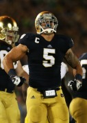 Manti Te'o looks to continue his successful ND career in the NFL