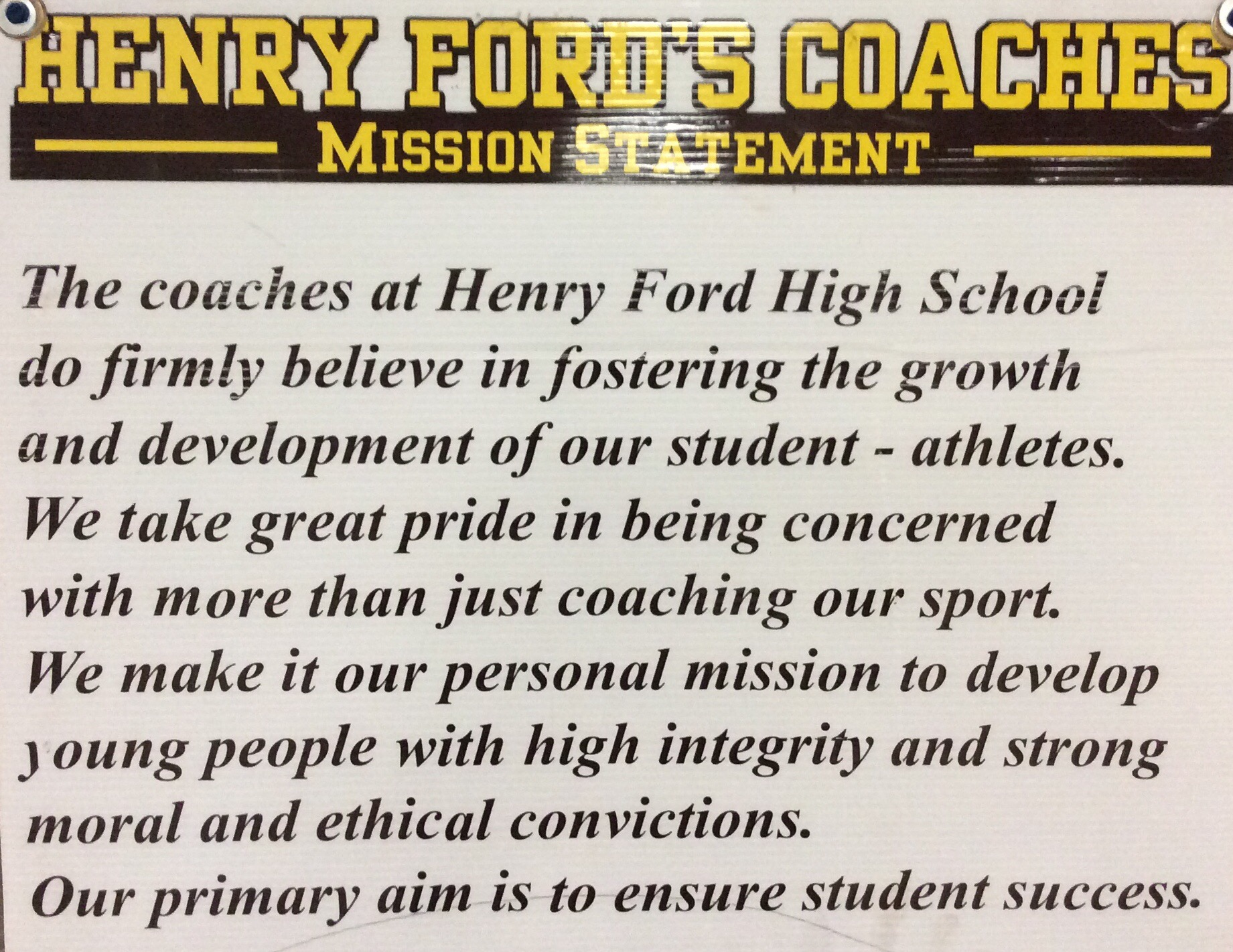 ford mission statement