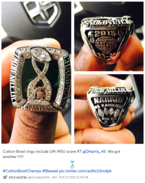 EPIC FAIL: MSU puts U-M on its Bowl Championship Ring