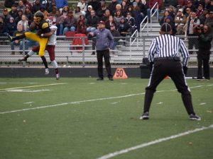 Donnie Corley goes up for a great catch